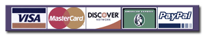 We accept Visa, MC, Amex & Discover credit cards
